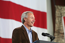 Photo of Governor Asa Hutchinson giving a speech.