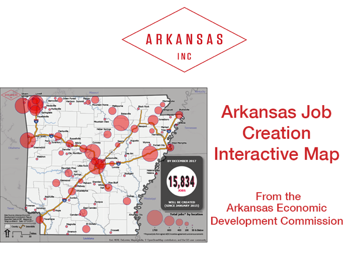 Arkansas Job Creation Map